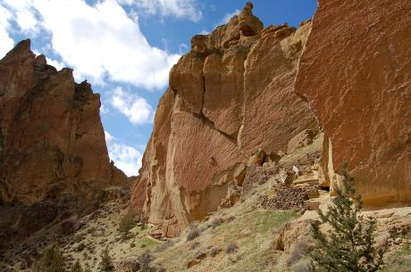 View towards Christian Brothers, Smith Rock, Oregon.  © Elizabeth Ruff