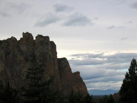Clouds moving in over Smith Rock