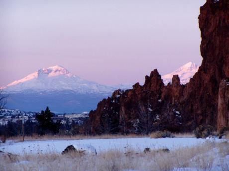 The Sisters Mtns in distance.  © Elizabeth Ruff