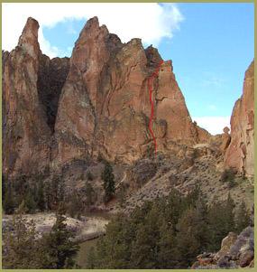 'White Satin', Smith Rock Climbing Guides, Smith Rock State Park, Oregon